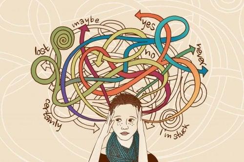 En stresset person tænker på alle mulighederne som en del af stressresponsen