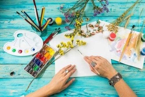 kunst kan også bruges som terapi