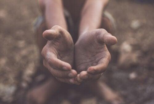 Et par åbne hænder