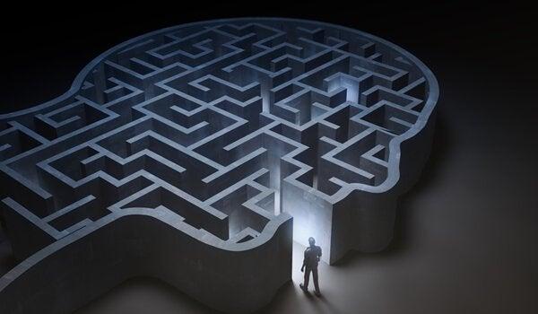 en labyrint som et hoved