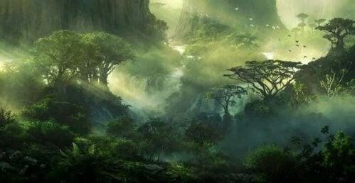 japansk skovlandskab