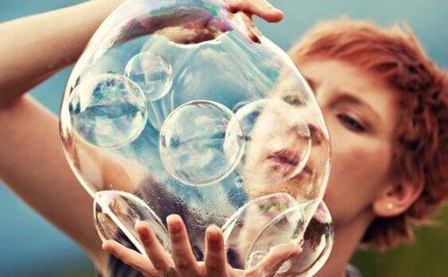 Kreativ hjerne og bobler. Hvordan arbejder den kreative hjerne?