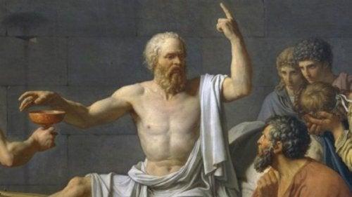 maleri af Sokrates