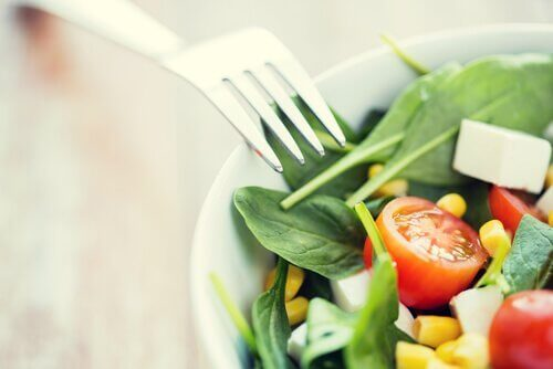 en sund lækker salat