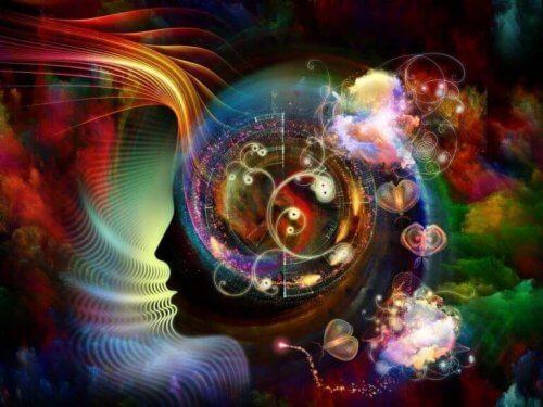 Farverige symboler i hjernen illustrerer udøvende funktioner