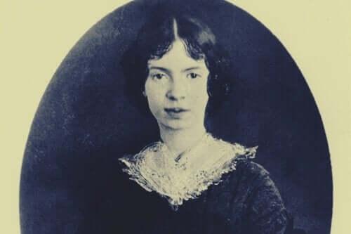 portræt af Emily Dickinson