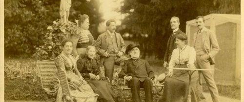 gammelt familiebillede