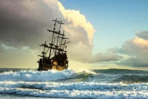 et sørøverskib