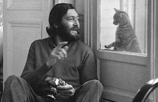 Forfatteren med en kat