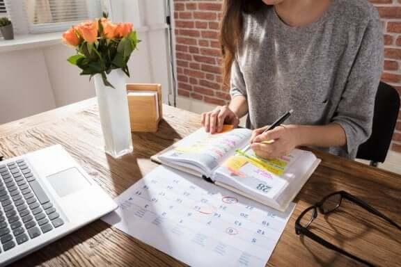 Lav en kalender og en daglig plan for dine underopgaver