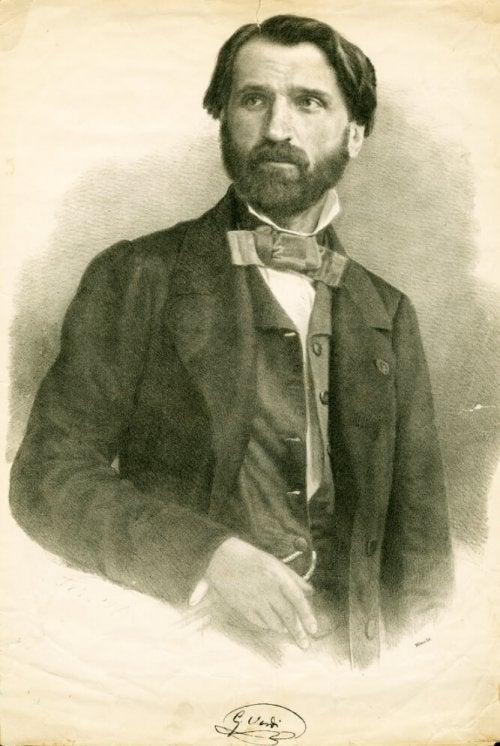 portræt af Giuseppe Verdi