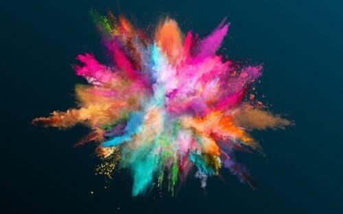 Farveeksplosion symboliserer forhold mellem farver og personlighed