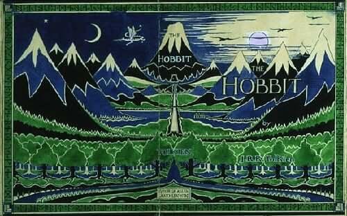 Maleri af landskabet i Hobitten