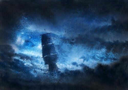 maleri af skib