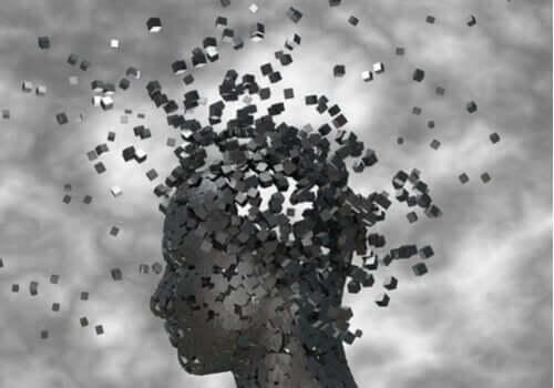 Hoved knuses og bliver til tusind små kasser som symbol for Harald sChults-Henckes psykoanalyse