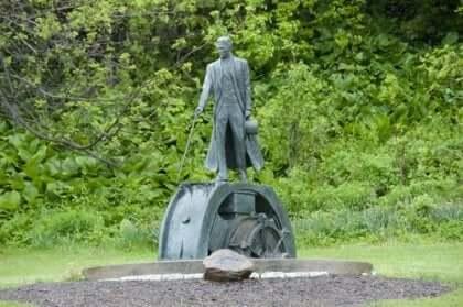 Statue af Nikola Tesla