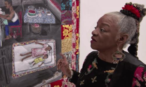 Faith Ringgold, der kigger på kunst