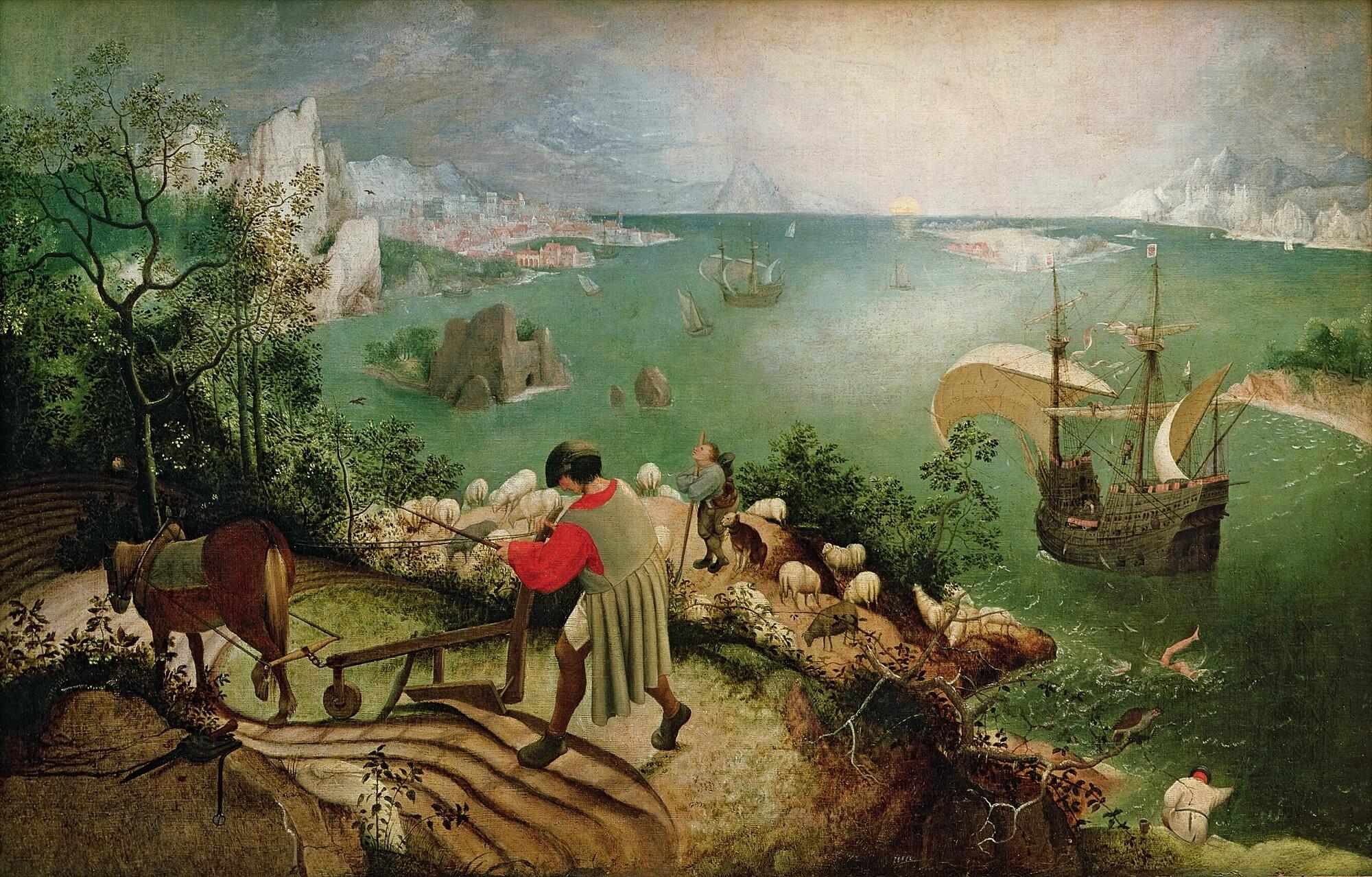 Maleri af det Ikariske hav