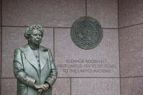 Statue af Eleanor Roosevelt