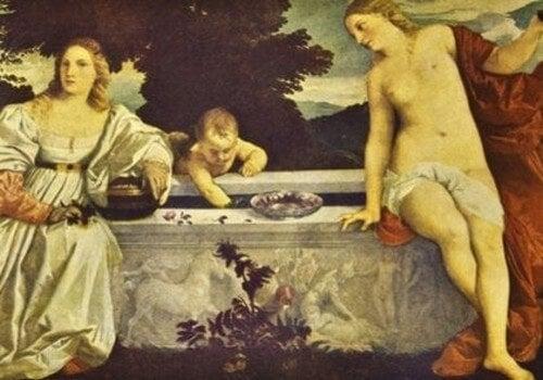 Kunstneren havde en usædvanlig rigdom, som ses i dette maleri
