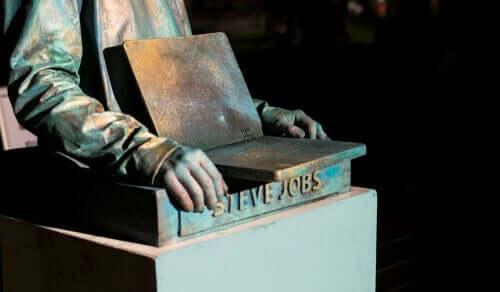 Statue af Steve Jobs