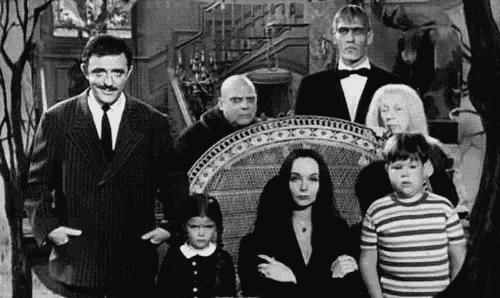 Gammelt billede af familien Addams