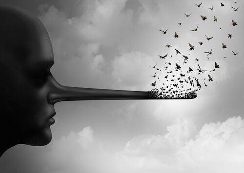 Don Juan Manuel advarer mod sladder og løgne, som illustreret af person med lang næse