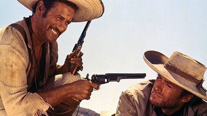 Scene fra western film