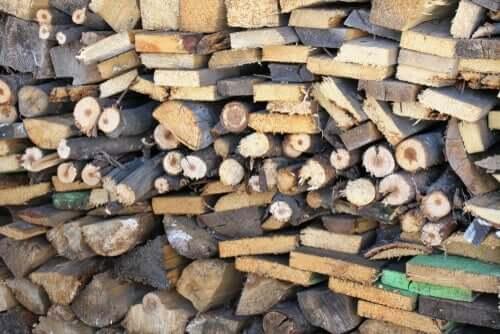 Bunker af træ