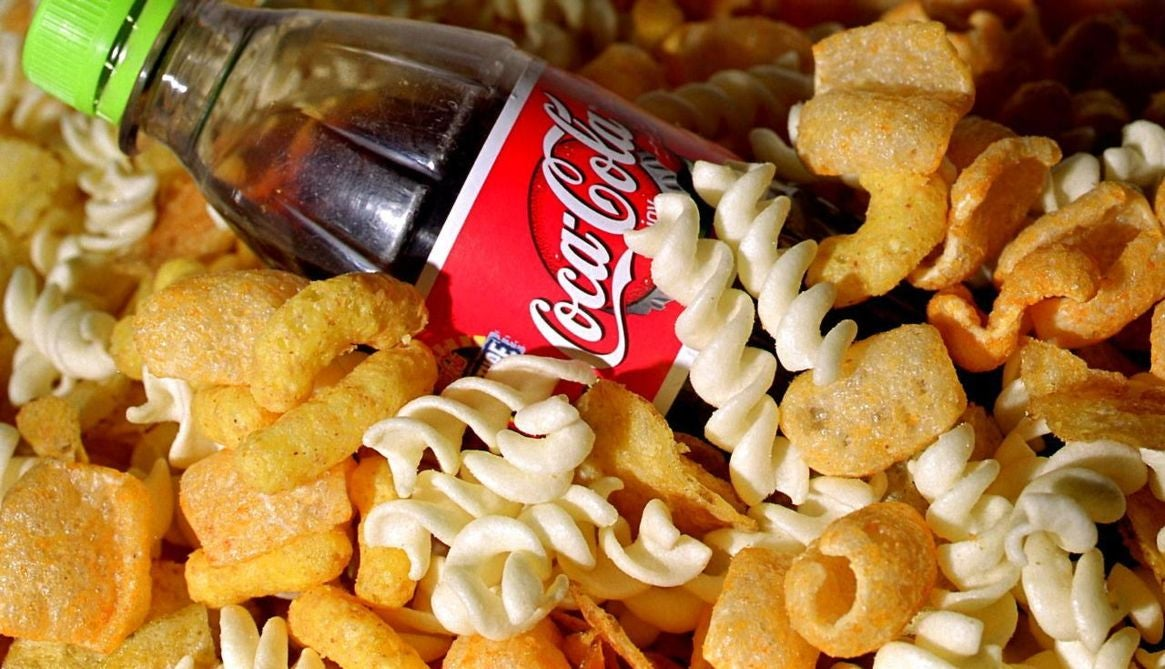 Cola og chips