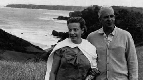 Her ses Severo Ochoa og hans hustru