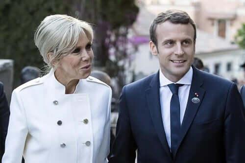 den franske præsident og kone
