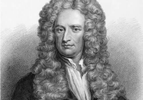 Isaac Newton, en Chiaroscuro-mand