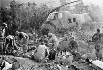 Fly blandt soldater i krig