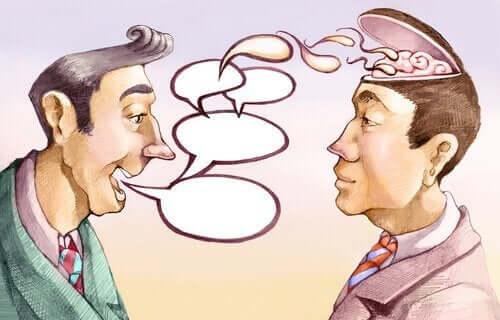 Manipulerende samtale mellem to mænd