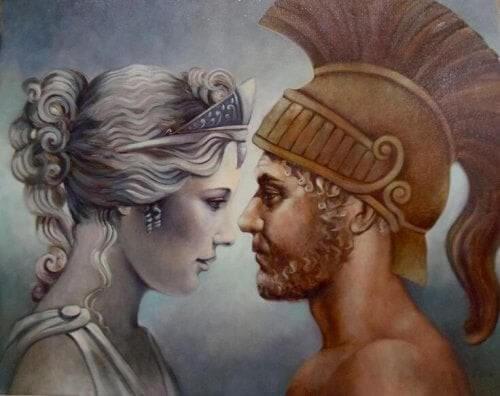 Billede af Afrodite og Ares