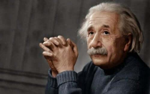 portræt af Einstein