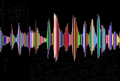 En ørehænger illustreres af musiske vibrationer