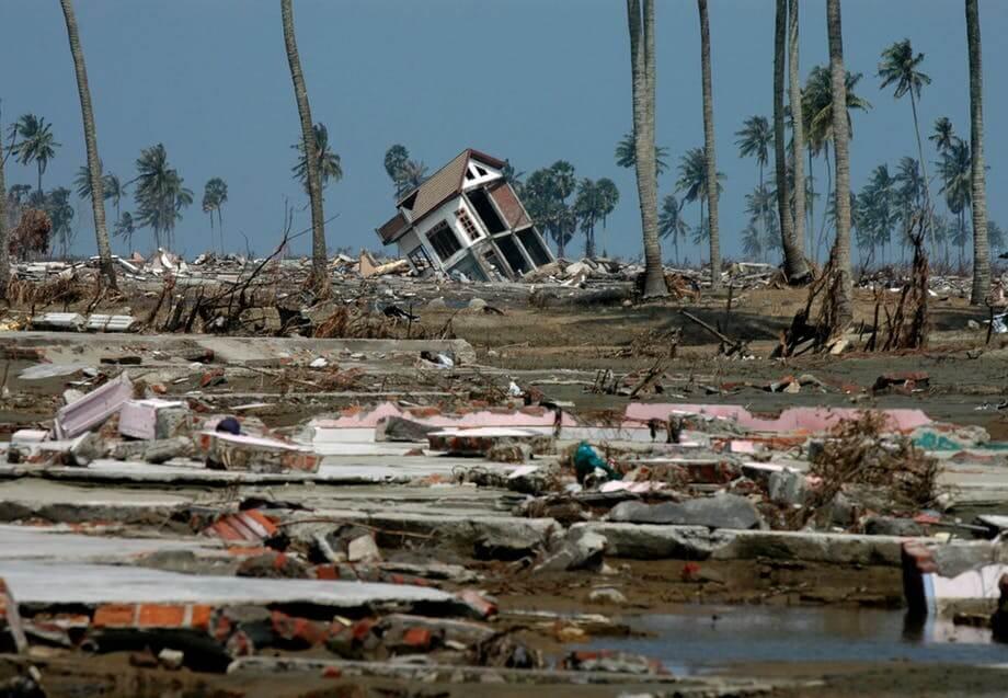 Ødelæggelser efter naturkatastrofe
