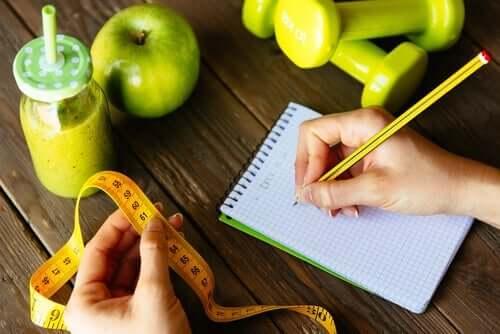 person, der fører journal over vægttab