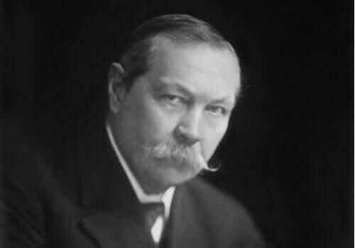 portræt af Arthur Conan Doyle