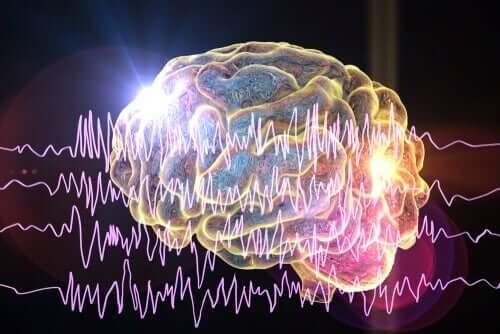 hjernen med bølger