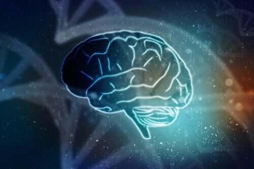 figur med en hjerne