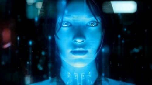 Menneskeheden og robotter illustreres af kvindelig robot