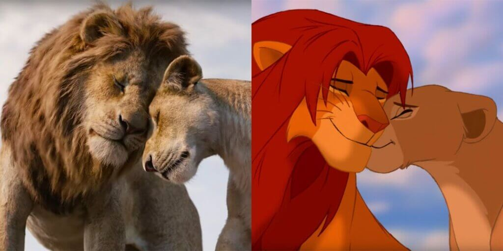 Løvernes Konge som rigtig film og tegnefilm