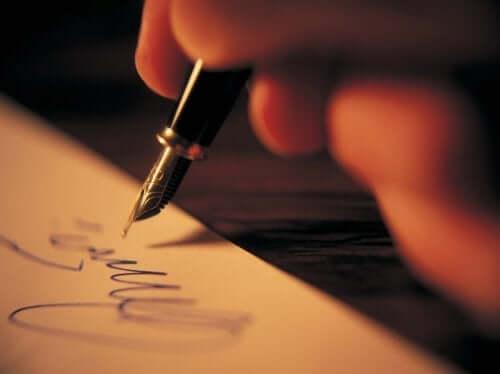 person, der skriver