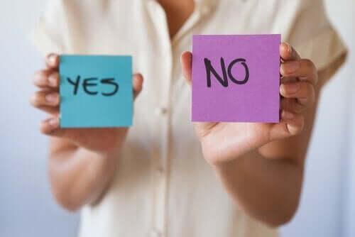 Hvorfor er det vigtigt at lære at sige nej?