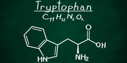Kemisk formel for tryptofan