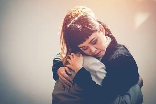 """""""Du kan regne med mig"""" vises med et kram"""