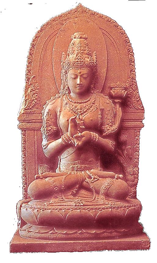 Statue af gudinde symboliserer Hjertesutraen